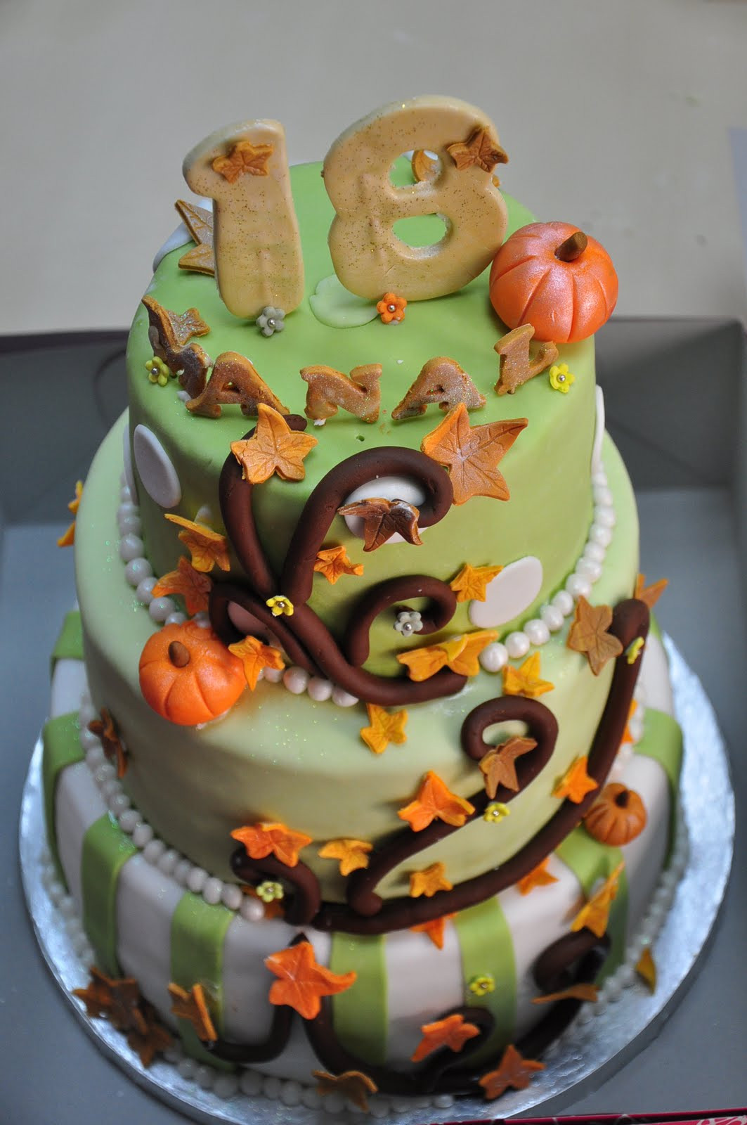 Fall Themed Birthday Cake  Reem s Cake Boutique Autumn themed Birthday Cake