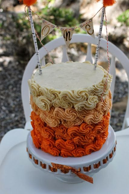 Fall Themed Birthday Cake  Fall themed first birthday cake