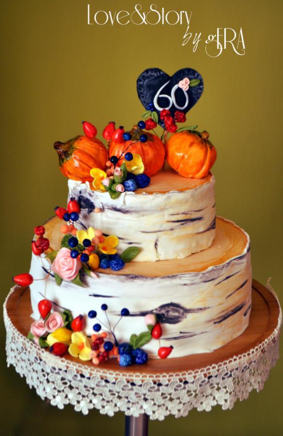 Fall Themed Birthday Cake  Autumn Birthday Cake cake by Gera CakesDecor