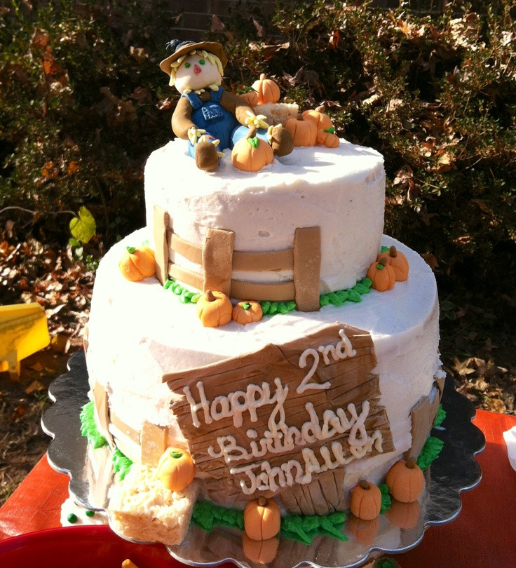 Fall Themed Birthday Cake  Fall themed birthday cake PARTIES AND SHOWERS
