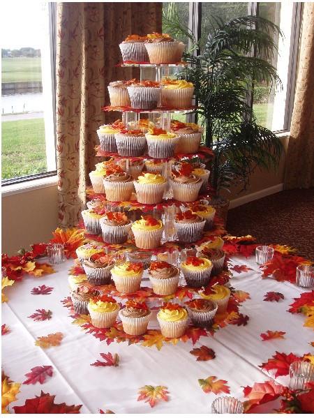 Fall Themed Cupcakes  Fall Wedding Decoration Ideas