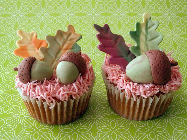 Fall Themed Cupcakes  Autumn Wedding Cupcake Recipes Weddbook
