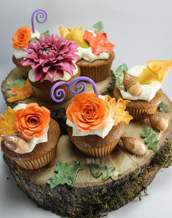 Fall Themed Cupcakes  Themed cupcakes Fall and Mouths on Pinterest