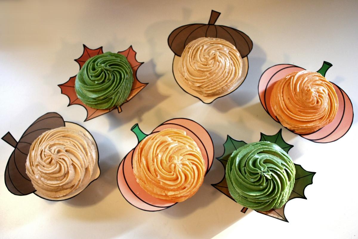Fall Themed Cupcakes  Clyde s Cupcake Magic Fall Cupcake Ideas