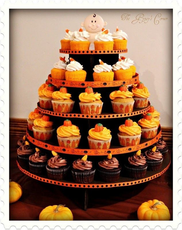 Fall Themed Cupcakes  25 best ideas about Fall baby showers on Pinterest