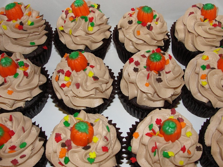 Fall Themed Cupcakes  Pinterest Discover and save creative ideas