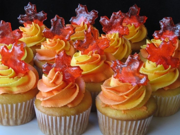 Fall Themed Cupcakes  Autumn inspired cupcakes crafts DIY