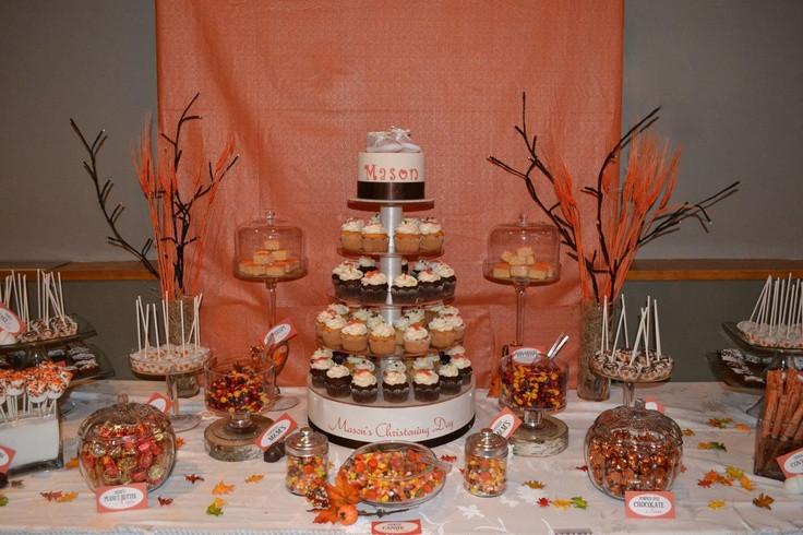 Fall Themed Desserts  Fall theme Dessert table Dessert Tables