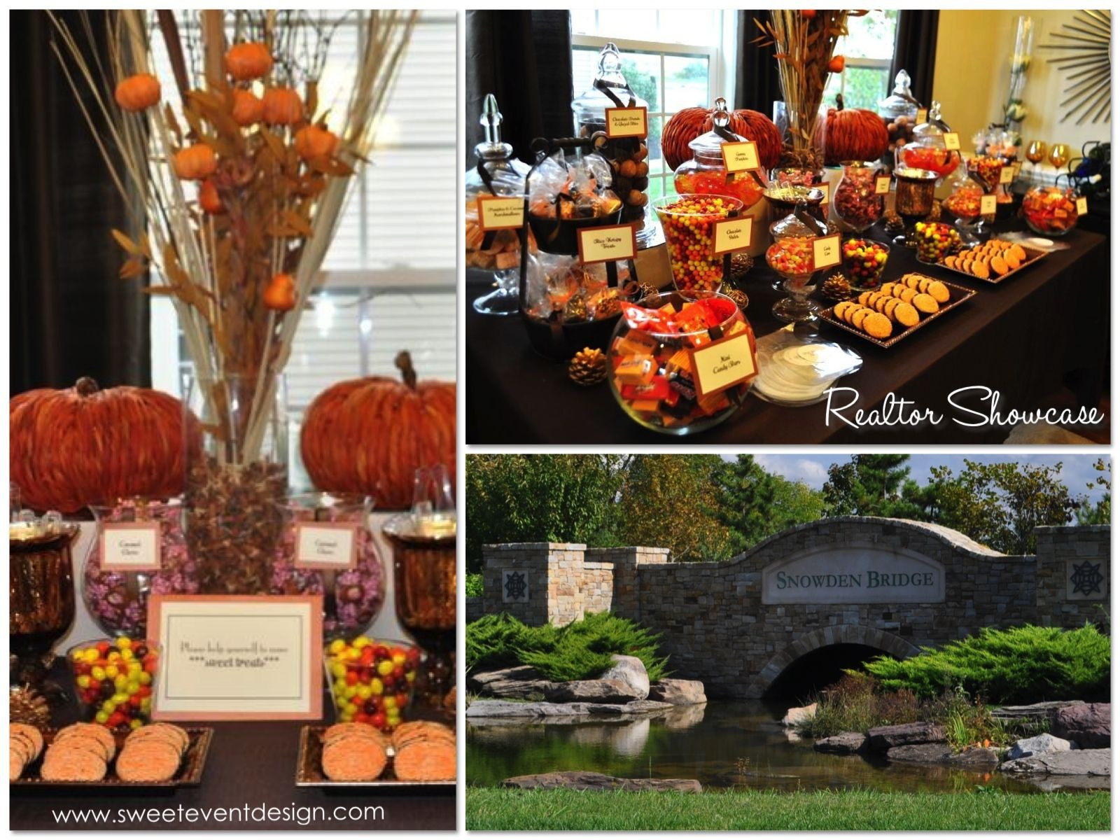 Fall Themed Desserts  fall themed candy tables