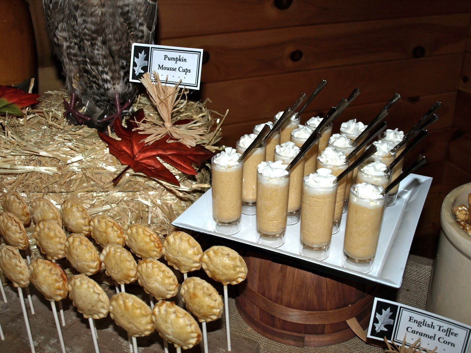 Fall Themed Desserts  a party style fall festival dessert table
