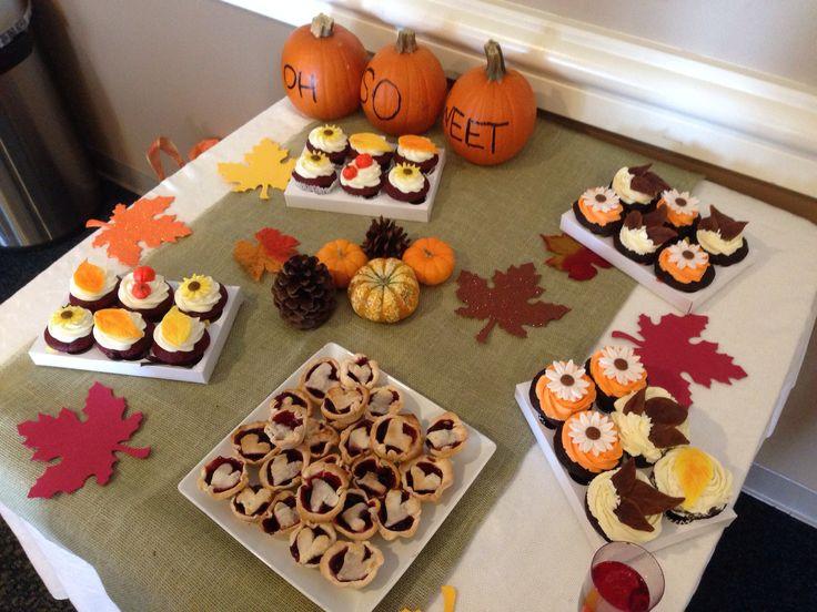 Fall Themed Desserts  Fall themed bridal shower dessert table