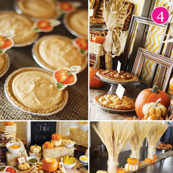 Fall Themed Desserts  Party of 5 Glam Thanksgiving Modern Tablescape Tattoo