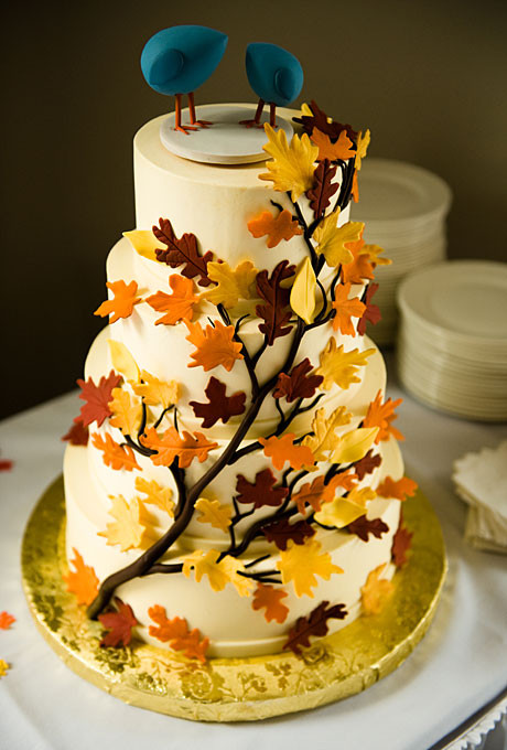 Fall Wedding Cakes Ideas  Wedding Inspiration Center Fall Wedding Cake with Nature