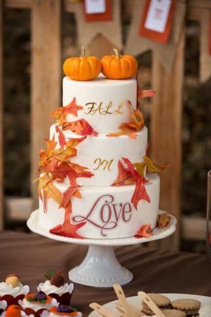 Fall Wedding Cakes Ideas  22 Fun Pumpkin Wedding Cake Ideas For Fall Weddingomania