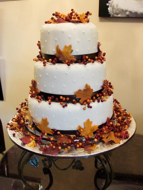Fall Wedding Cakes Ideas  24 Great Ideas for Fall Wedding Cake Decoration Style