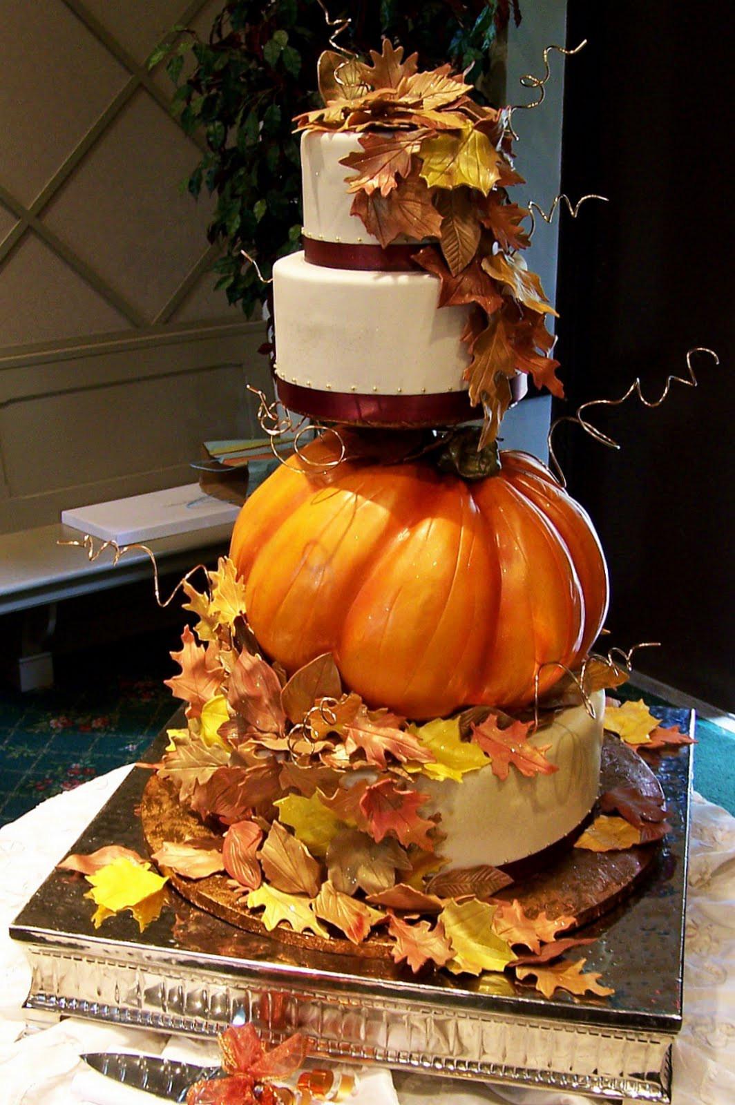 Fall Wedding Cakes Ideas  A Pumpkin Inspired Wedding