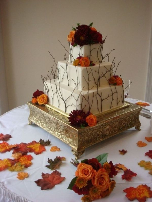 Fall Wedding Cakes Pictures  31 Cake Ideas For Fall Weddings