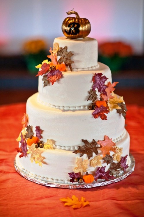 Fall Wedding Cakes Pictures  24 Great Ideas for Fall Wedding Cake Decoration Style