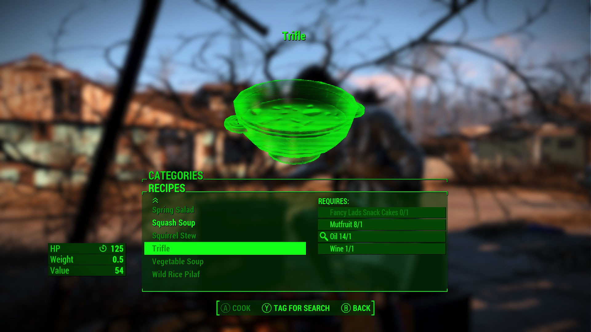 Fallout 4 Squirrel Stew  Fallout 4 New Recipes Mod