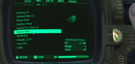 Fallout 4 Squirrel Stew  Fallout 4 Drugs Mod