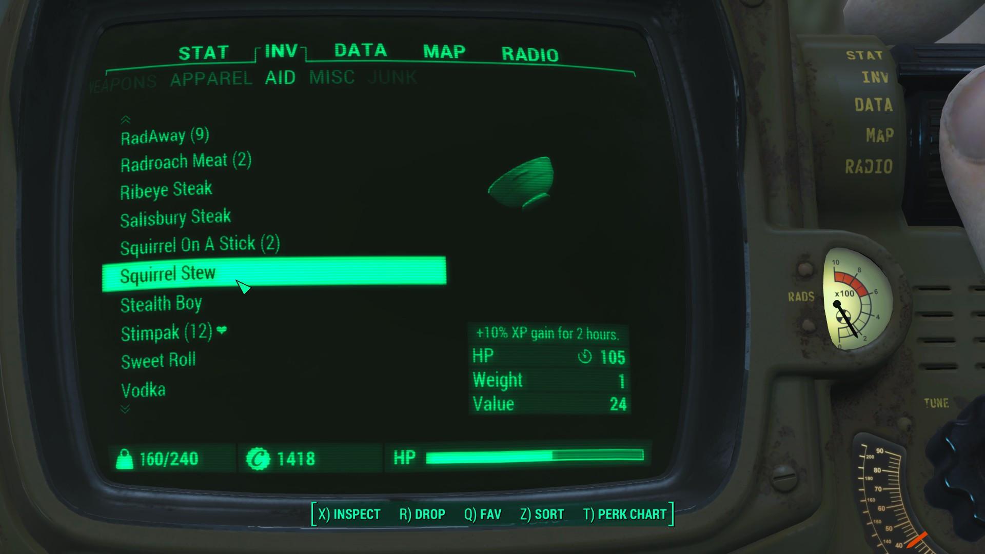 Fallout 4 Squirrel Stew  Squirrel Stew Buff FO4 Mod