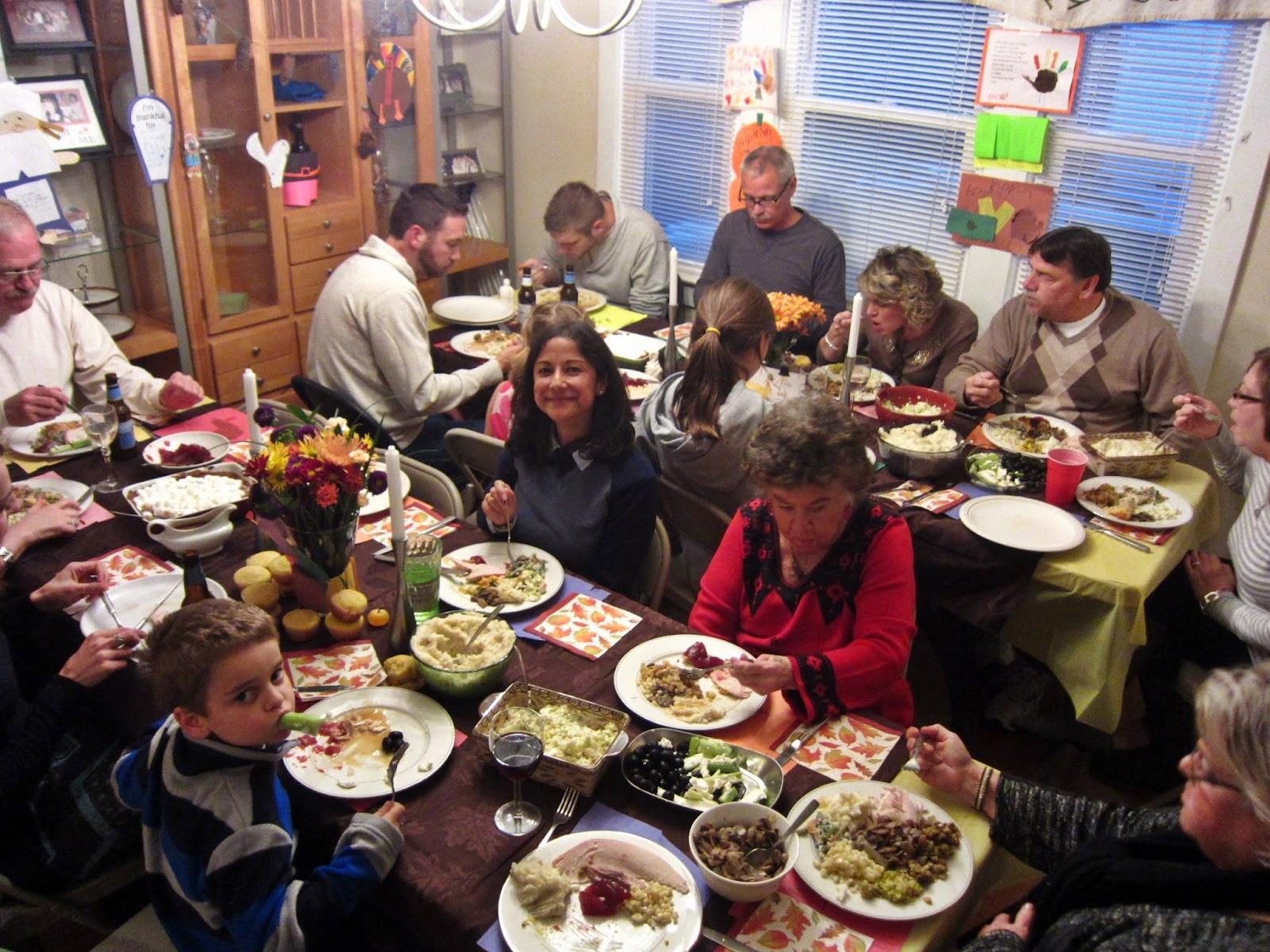 Family Thanksgiving Dinner  Where Is Darren Now Thanksgiving 2013