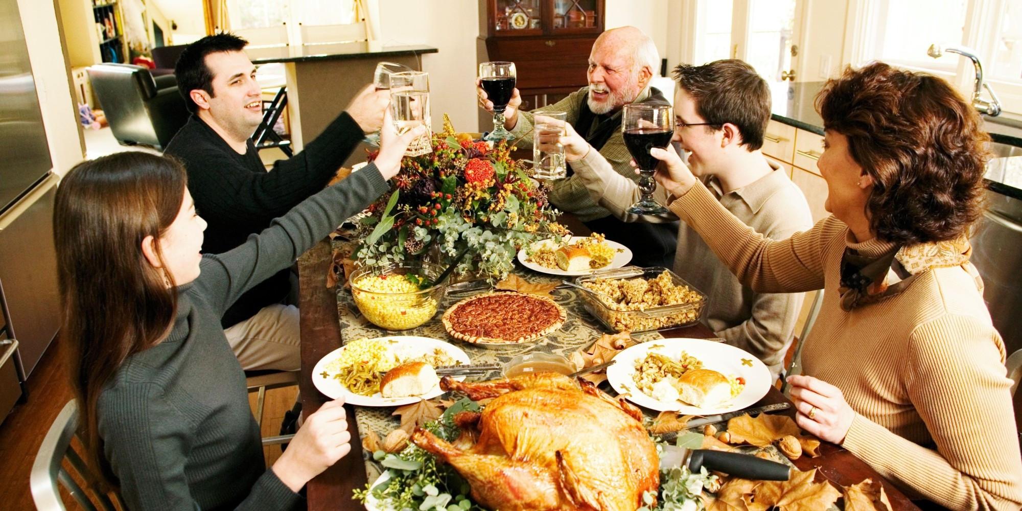 Family Thanksgiving Dinner  Celebrate Thanksgiving California Style
