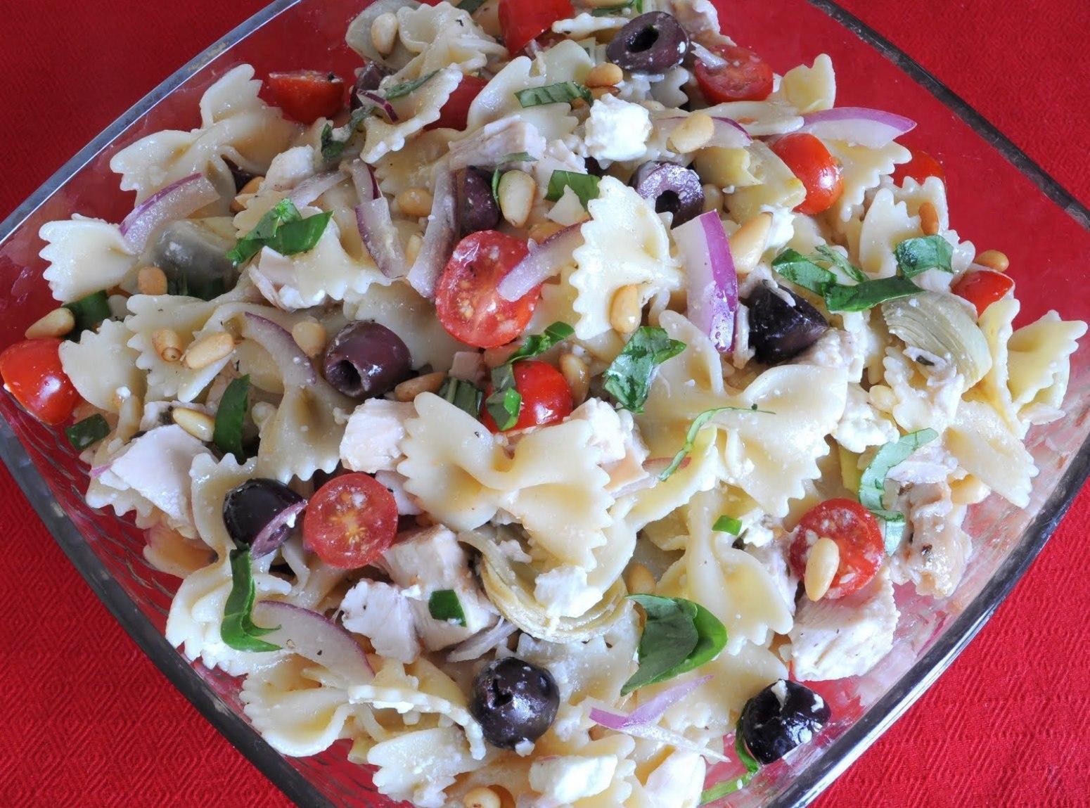 Farfalle Pasta Salad Recipe  Farfalle of Arete Greek Pasta Salad Recipe