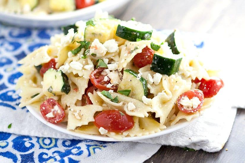 Farfalle Pasta Salad Recipe  Fresh Zucchini Farfalle Pasta Salad