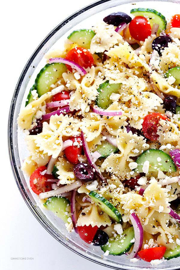 Farfalle Pasta Salad Recipe  Mediterranean Pasta Salad