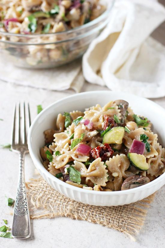 Farfalle Pasta Salad Recipe  Mediterranean Farfalle Pasta Salad Cook Nourish Bliss