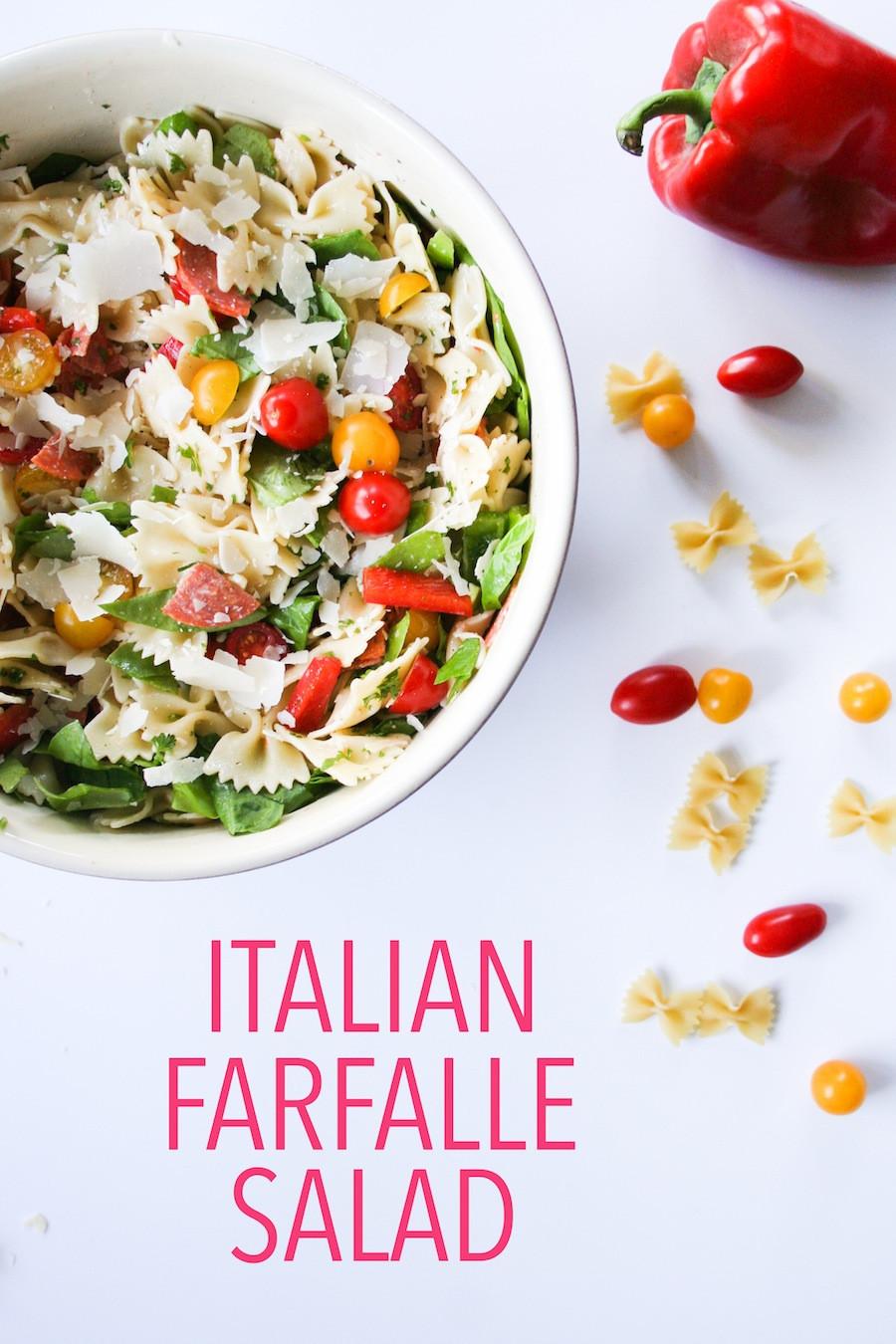 Farfalle Pasta Salad Recipes  Simple Summer Farfalle Pasta Salad
