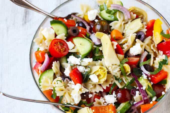 Farfalle Pasta Salad Recipes  Farfalle Pasta Salad Mediterranean Style