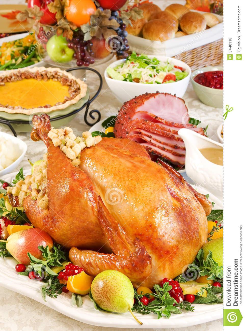Free Thanksgiving Dinner  Thanksgiving dinner stock photo Image of meat rolls