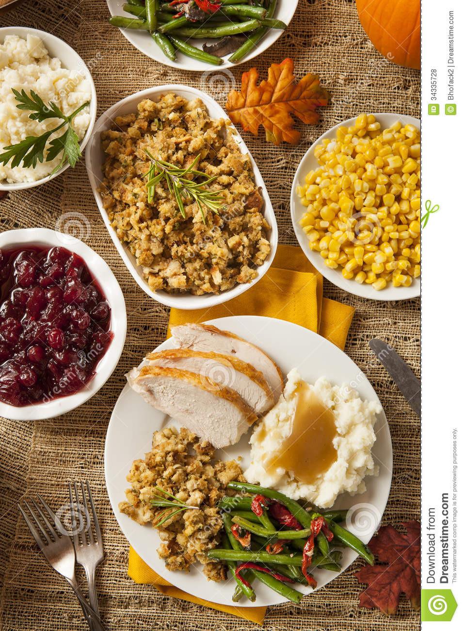 Free Thanksgiving Dinner  Homemade Turkey Thanksgiving Dinner Royalty Free Stock