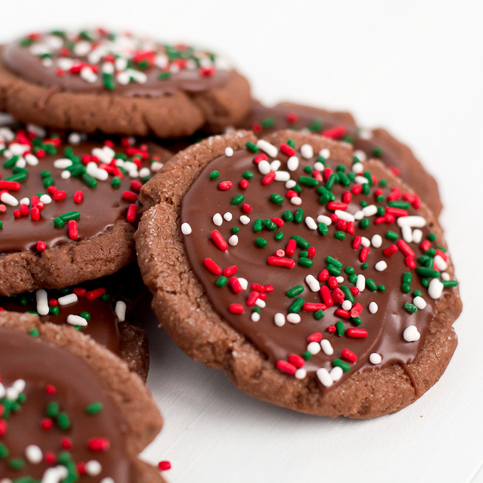 Frosted Christmas Cookies  Chocolate Frosted Christmas Cookies Garnish & Glaze