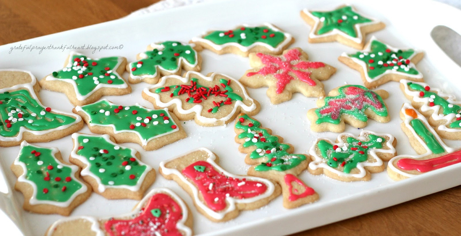 Frosted Christmas Cookies  Frosted Sugar Cookies Grateful Prayer