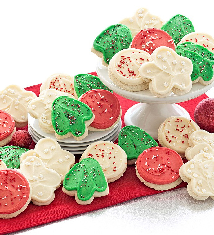 Frosted Christmas Cookies  Buttercream Frosted Holiday Cutout Cookies