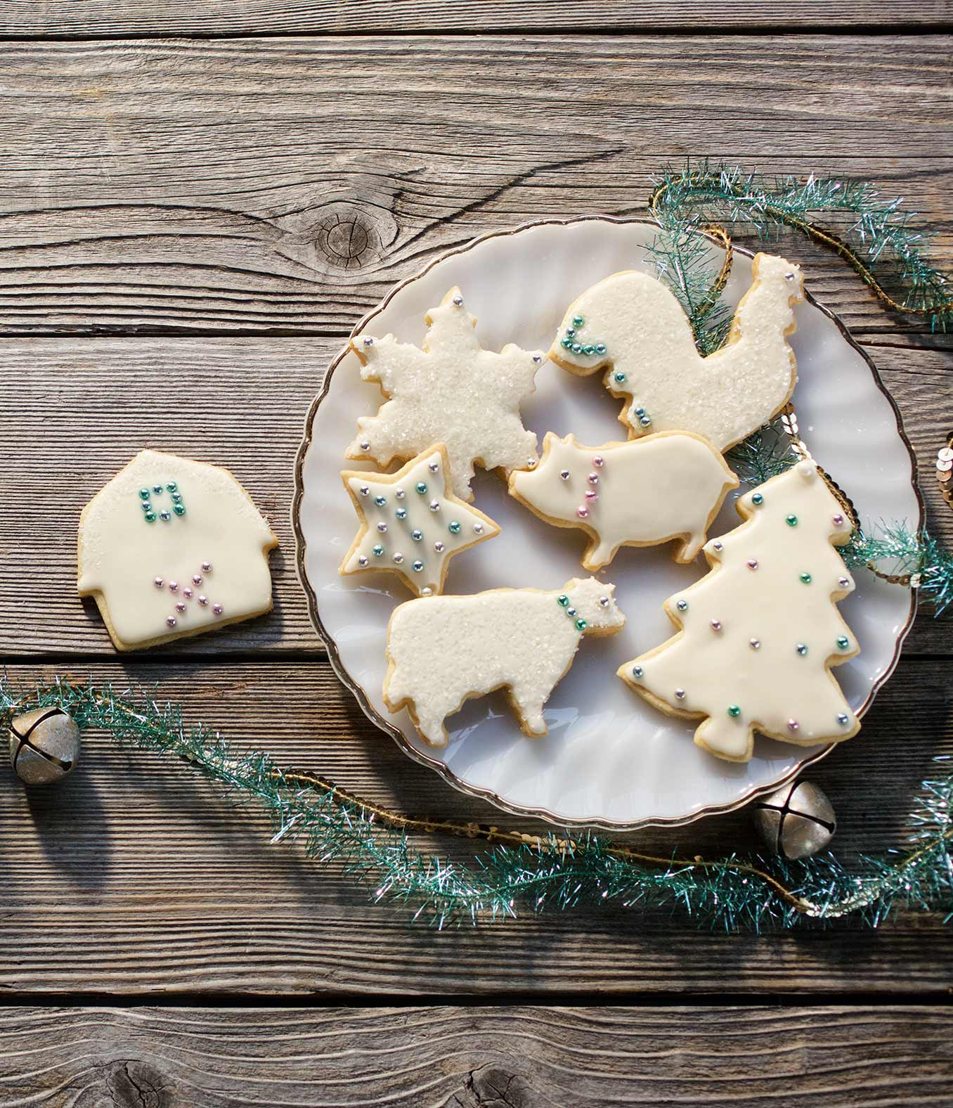 Frosted Christmas Cookies  Frosted Holiday Shortbread Cookies Recipe