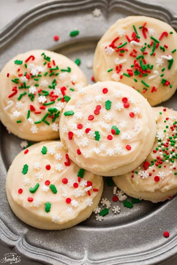 Frosted Christmas Cookies  Soft Frosted Eggnog Cookies Life Made Sweeter