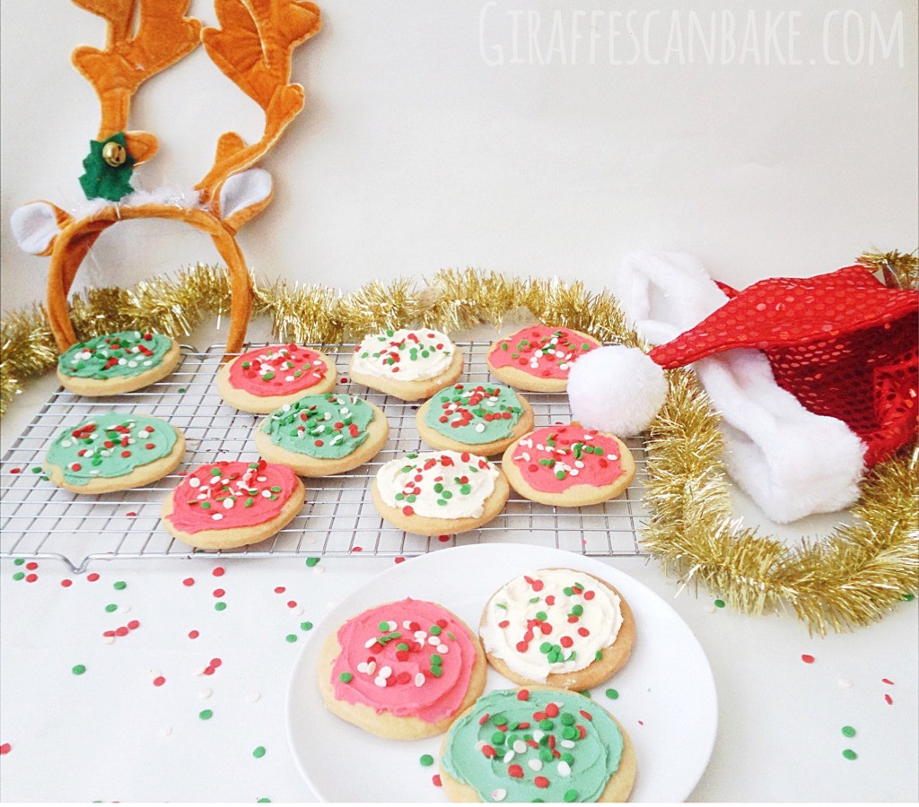 Frosted Christmas Cookies  Frosted Shortbread Christmas Cookies Giraffes Can Bake