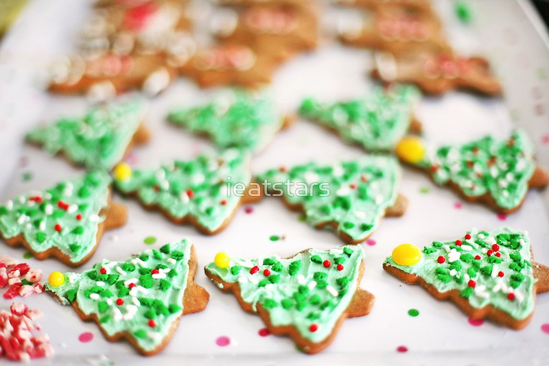 """Frosted Christmas Cookies  """"Frosted Christmas Tree Cookies with Sprinkles"""" by"""