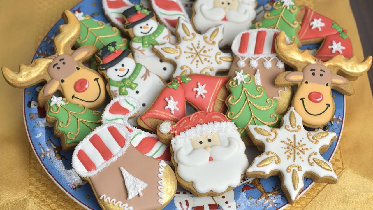 Frosting For Christmas Cookies  CHRISTMAS COOKIES Decorating with Royal Icing for