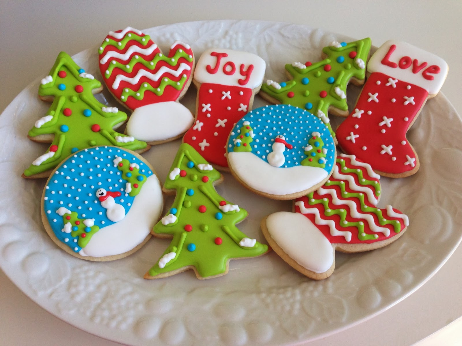 Frosting For Christmas Cookies  monograms & cake Christmas Cut Out Sugar Cookies with