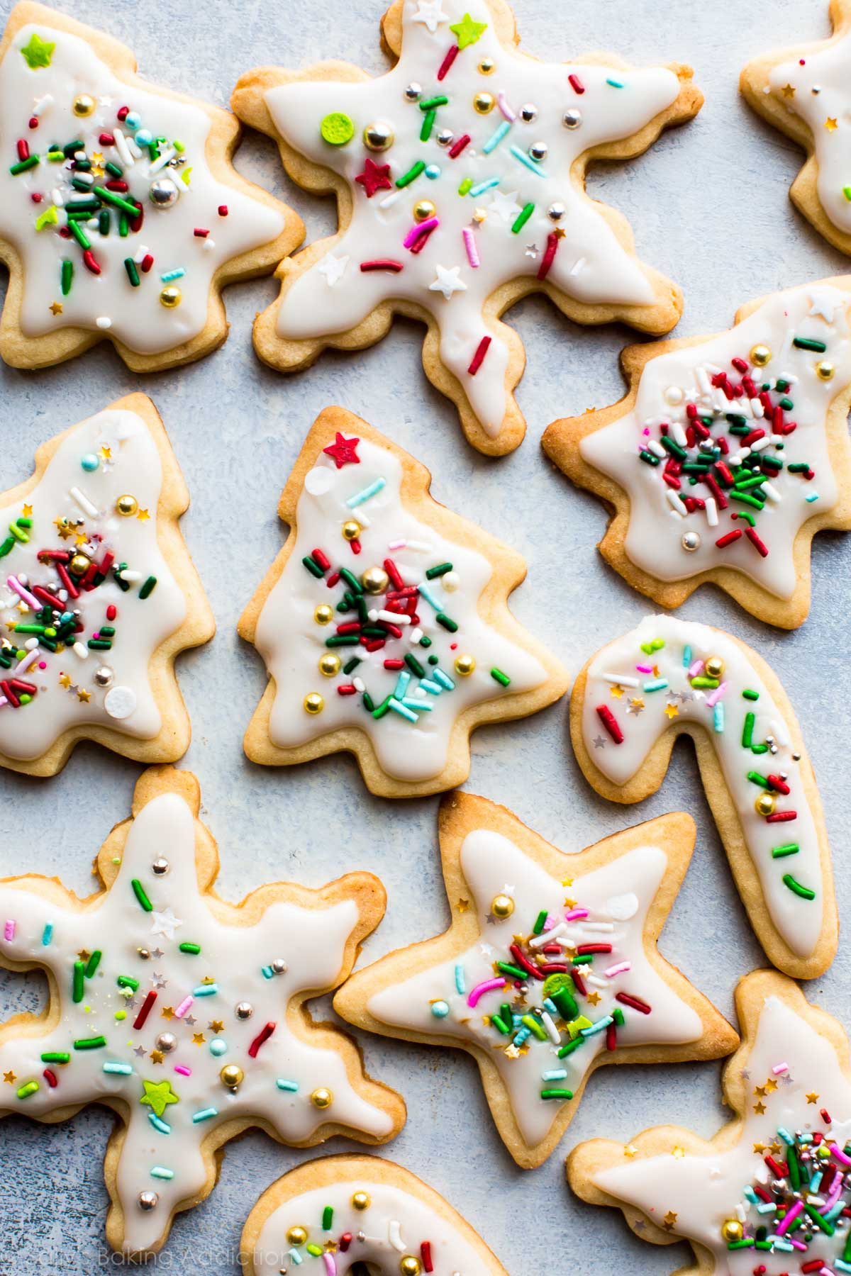Frosting For Christmas Cookies  Holiday Cut Out Sugar Cookies with Easy Icing Sallys