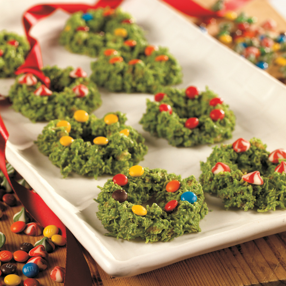 Fun Christmas Cookies Recipe  Wreath Cookies Recipe