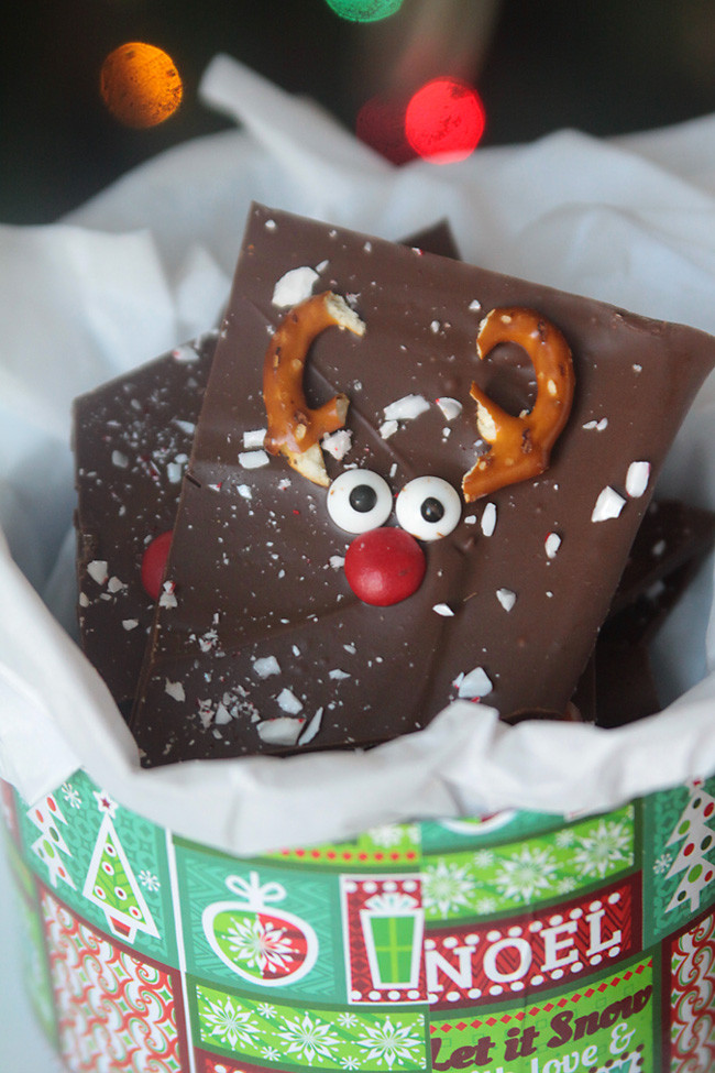 Fun Christmas Cookies Recipe  peppermint reindeer bark super easy recipe It s Always