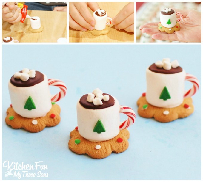 Fun Christmas Cookies Recipe  Christmas Treats Hot Cocoa Marshmallow Cookie Cups