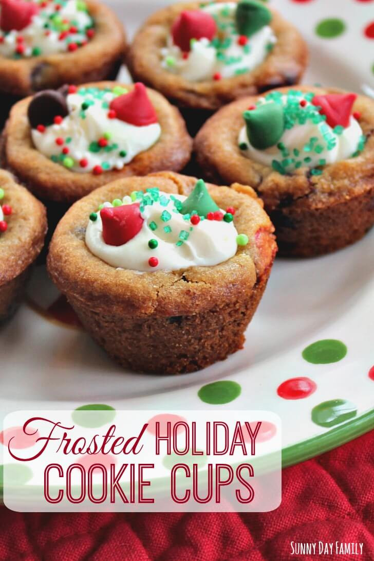 Fun Easy Christmas Cookies  Frosted Holiday Cookie Cups Easy Christmas Cookies to