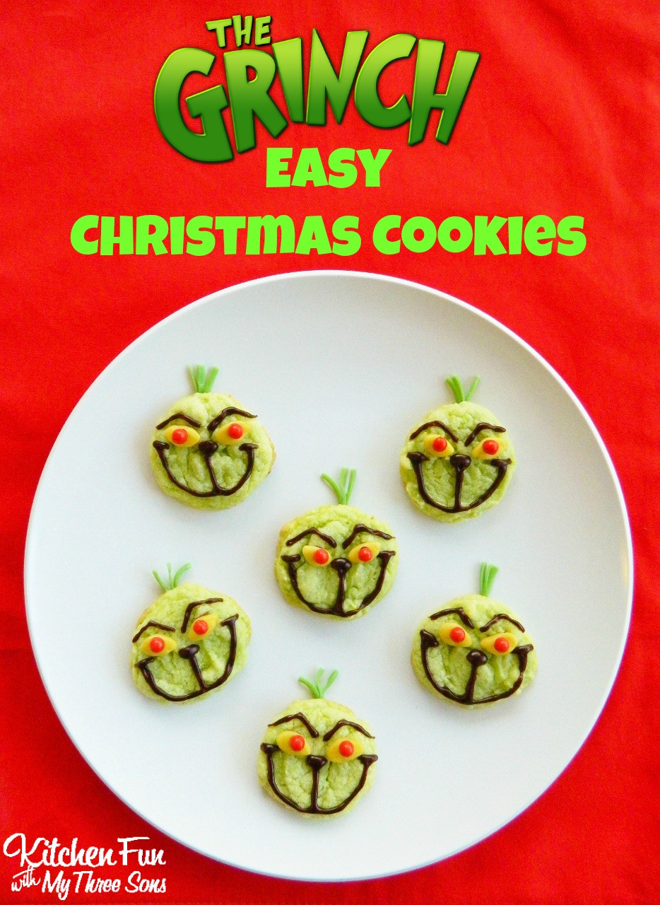 Fun Easy Christmas Cookies  The Grinch Easy Christmas Cookies Kitchen Fun With My 3 Sons